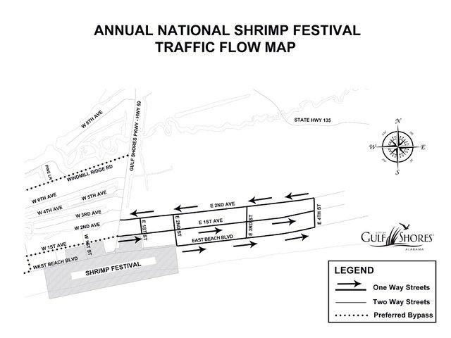 Shrimp Festival Road Closures in Gulf Shores