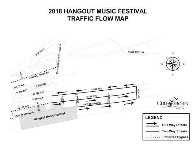 2018 Hangout Festival Traffic