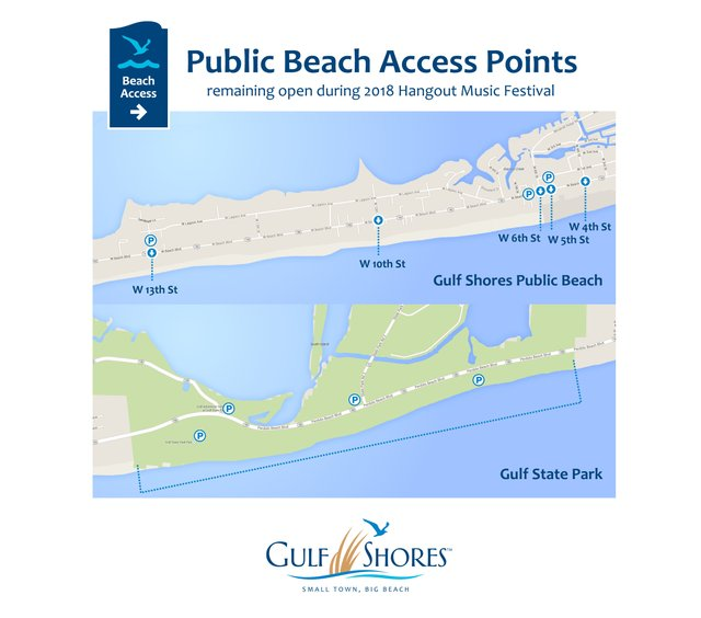 2018 Hangout Festival Public Beach ACcess