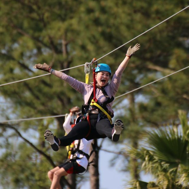 It's a bird. It's a plane. It's high-energy fun on a zipline!