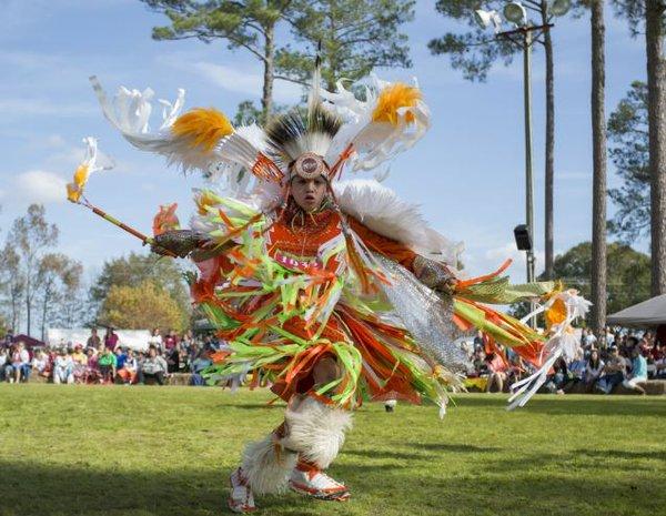 Poarch Creek Tribal Dancer