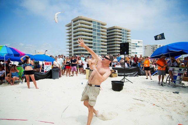 Mullet Toss in Orange Beach at the Flora Bama