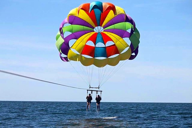Parasailing at Orange Beach Marina