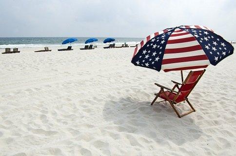 A beach on the Alabama Gulf Coast.